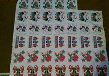 Christmas Fabric, Appliques Noel, Santa, Snowy Friends, Poinsettia,  Bears