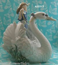 Lladro #5705 ~ THE SWAN AND THE PRINCESS   * Mint Condition *