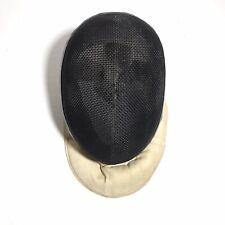 Vintage Leon Paul Fencing Mask Mesh Adult Small/Medium Black Mesh Green Fabric