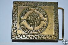 Vintage Old Federal Aviation Administration Brass Belt Buckle RARE