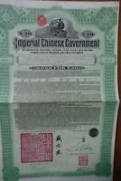 Imperial Chinese Government Hukuang Railway Bond for 20 pounds
