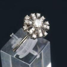 Estate Vintage Natural Diamond 18K Gold Round Ladies Ring