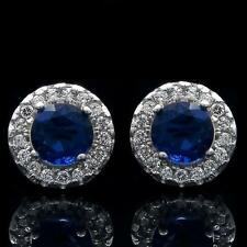 1.50ct Round Diamond 14k White Gold Stud Earrings