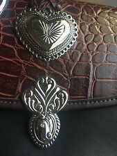 Texas Leather Purse Southwestern Belt Buckle Handbag Shoulder wallet set heart