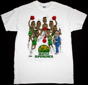 90s Seattle Supersonics T Shirt NBA basketball White Unisex Reprint TK2626