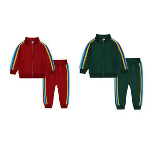 Kids Baby Girls Winter Tracksuit Set Long Sleeve Top Pants Casual Outfit Clothes