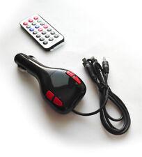 REPRODUCTOR MP3 WMA TRANSMISOR FM PARA COCHE MECHERO ENCENDEDOR SD MMC USB