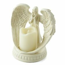Angel in Memorial LED Candle - Battery Operated Flameless Decoration