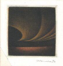 gravure signée Honda graveur japonais, XXe siècle, actif en France manière noire