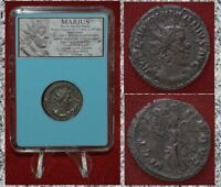 Ancient Roman Empire Coin MARIUS Very Rare Coin! Reigned Only For 3 Days!