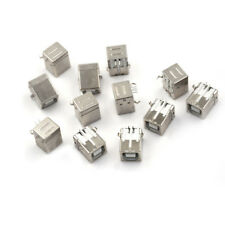 10Plug Port Connector Socket PCB Replacement For USB Type B Female Right Angle^F