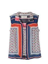 Marni Sleeveless Tank Top Shirt Blouse Silk Summer 2012 Polka Dot Deco Print M/L