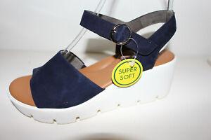 """Paul Green Sandalette blau """"Super Soft"""" Gr. UK 6,5 = Gr. 40 NEU (#62)"""