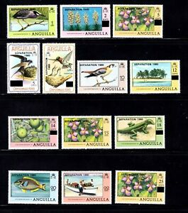 Anguilla stamps #402 - 423, MNHOG, XFS, full Mixed topicals set, SCV $29.80