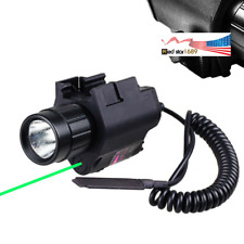 Us Tactical Green Dot Laser Sight Led Flash Combo For Rifle Shotgun 20mm Rail