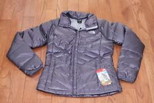 New The North Face Womens Aconcagua Down Jacket Coat S Greystone Blue