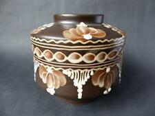 Vintage Terracotta Vase, Drip Glaze Decoration