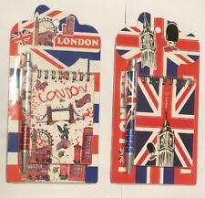 2 X Note Pad Diary With Pen London Union Jack Tower Bridge Big Ben Souvenir Gift