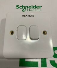 Schneider Lisse 13A Switched Fuse Connection Unit 1 Gang White - Engraved HEATER