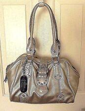 f578bf46cfa3 GENNA DE ROSSI purse handbag tote satchel-Logo key chain clasp- Silver