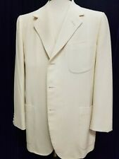 Oxxford light weight wool ivory 3-button sport coat