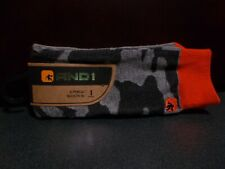 And1 Courtside Collection Men's Crew Socks NEW WITH TAGS Shoe size 6-12.5