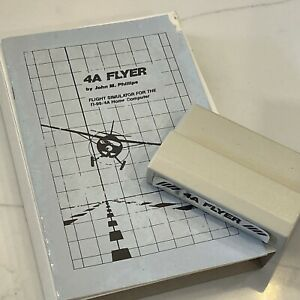 Flight Simulator 4A Flyer Game for TI-99 4A Texas Instruments 1986 Untested
