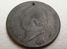 1824 W France 5 Francs .900 Silver Coin - Louis XVIII KM#711