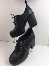Torrid Black Chunky Block Punk Goth Rock Women's Heel Shoes L5356-25  12W  O036