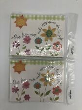 Lot Of 2 American Greetings Flower Floral Blank Note Cards Envelopes 20 Cards