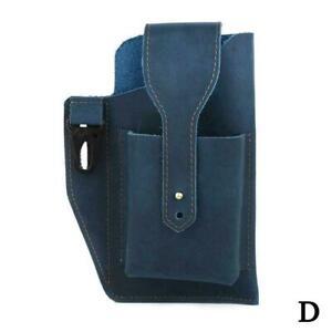 Retro Mens Waist Bag Genuine Leather Cell Phone Holster Belt Sp Case Loop