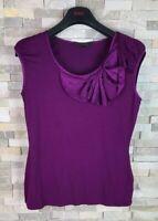 Coast Ladies Size S Purple Sleeveless Top T Shirt Vest