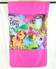 "Original 2005 MY LITTLE PONY Rainbow Gardens Sleepover Sleeping Bag 49"" x 27"""