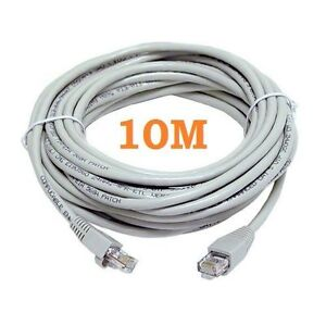 10M METERS ETHERNET CABLE CAT CAT5e 5 CABLE RJ45 PATCH NETWORK LEAD 10 METER NEW