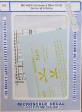 "Microscale MC-4053 ""Baltimore & Ohio GP-30 Sunburst Scheme"" HO Scale NOS"
