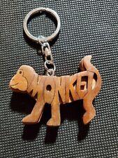 "Wood Carved Monkey Key Chain 2.5"" Long"