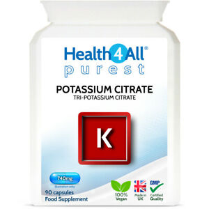 Health4All Potassium Citrate 740mg Vcaps | FOR BLOOD PRESSURE AND MUSCLE CRAMPS