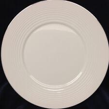 """ROYAL DOULTON GORDON RAMSAY PLATINUM DINNER PLATE 10 5/8"""" WHITE EMBOSSED RINGS"""