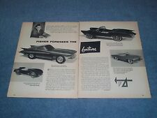 1956 Fisher Body Craftsman's Guild Model Car Competition Vintage Winners Article