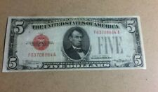 More details for 1928 usa 5 dollar red seal series