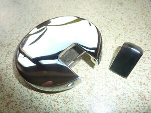 ROVER P6 2000 2200 3500 CHROME FUEL FILLER CAP and release button.  Rechromed.