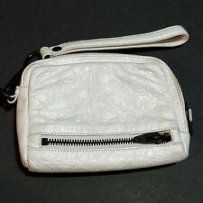 Alexander Wang Large Fumo Wallet Wristlet White Leather