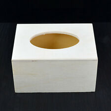 Tissue Box Case Cover Napkin Paper Towels Wooden Holder Home DIY Decoration A1F