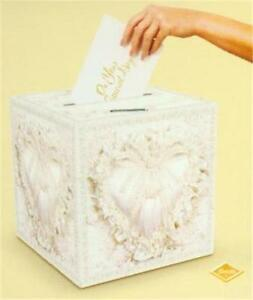 Wedding / Party Card Post Box (Lacy Heart)