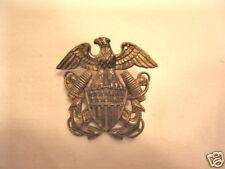 Navy Medal Badge Sterling Silver Eagle Anchor Pin Naval