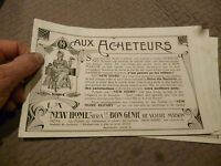 Ancien Buvard Ancienne Machine a Coudre New Home Sewing Machine Ink Blotter
