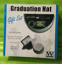Writer's Lane - Graduation Hat Gift Set - Frame Box Pen & Keychain - NEW NIB