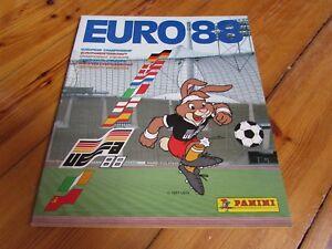 PANINI EURO 88 EMPTY FOOTBALL STICKER ALBUM 1988  - EXCELLENT CONDITION RARE