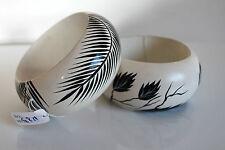 bracciali in legno dipinti a mano bellissimi lotto di 2