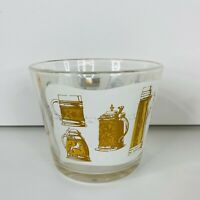 G. Reeves Frosted Ice Bucket Mid Century Barware Vtg 60s